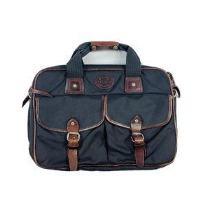 Filson Leather Ripstop Black Messenger Bag